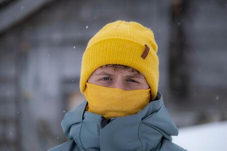ADULT SKIING NECK WARMER HUG SPRAY - OCHRE