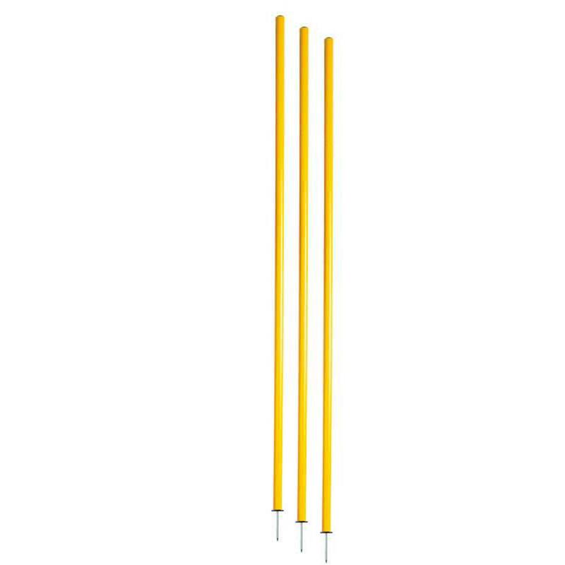 Confezione 3 picchetti slalom giallo-rosso