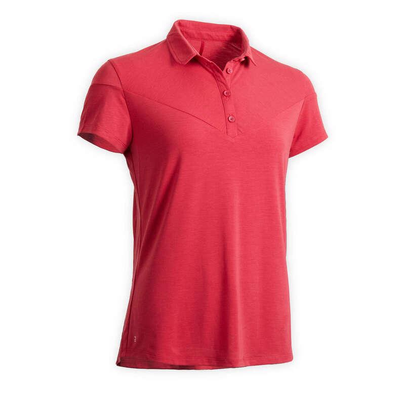 Îmbrăcăminte echitație damă Echitatie - Tricou polo 100 roz FOUGANZA - Echitatie