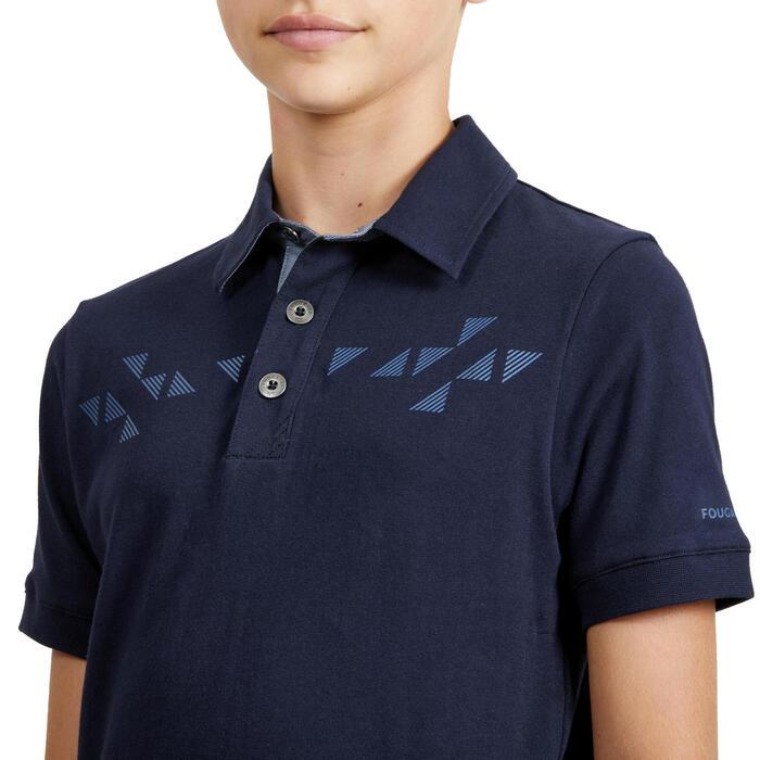 Polo de Manga Curta de Equitação Rapaz 140 BOY Azul-marinho