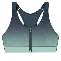 女款有氧健身訓練運動內衣900 - 晴空藍