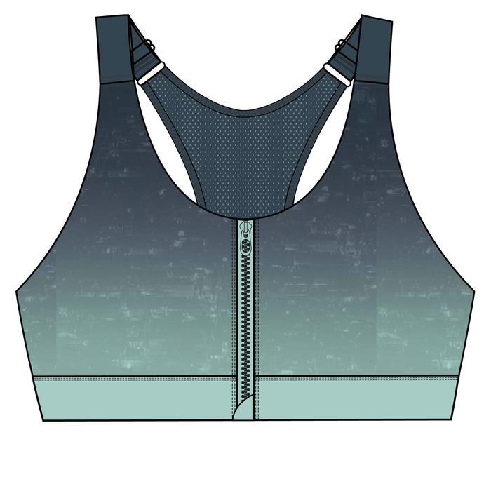Women's Fitness Cardio Training Sports Bra 900 - Turquoise Blue