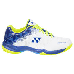 Chaussure de Badminton, Squash, Sports indoor POWER CUSHION 50 Blanc Bleu