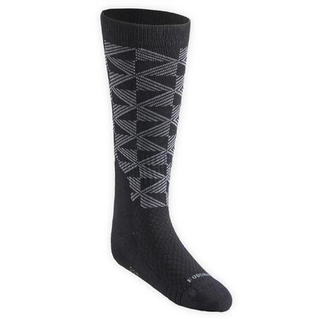 """Vaikiškos jojimo kojinės """"SKS 500"""", juodos, pilkos, rožinės, su piešiniu"""