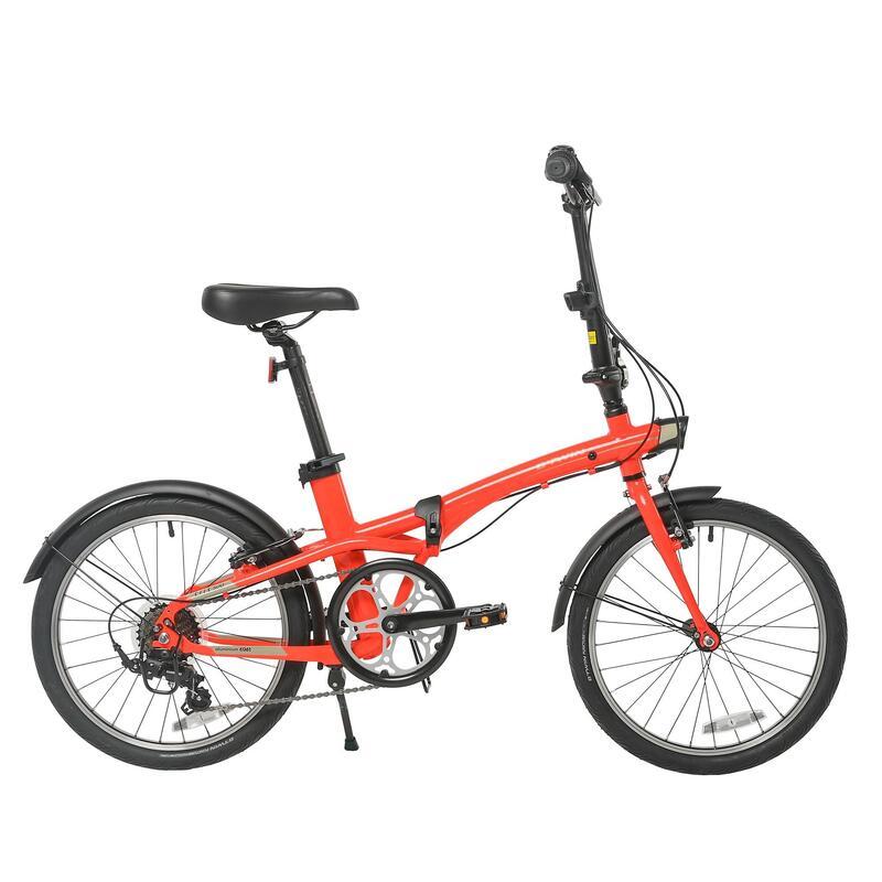 """20"""" Tilt 500 Orange Folding Bike"""