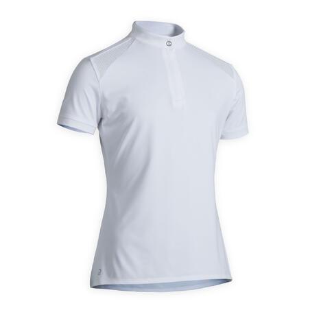 Girls' Show High-Collar Polo Shirt 500 - White