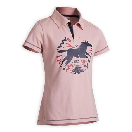 100 horseback riding short-sleeve polo