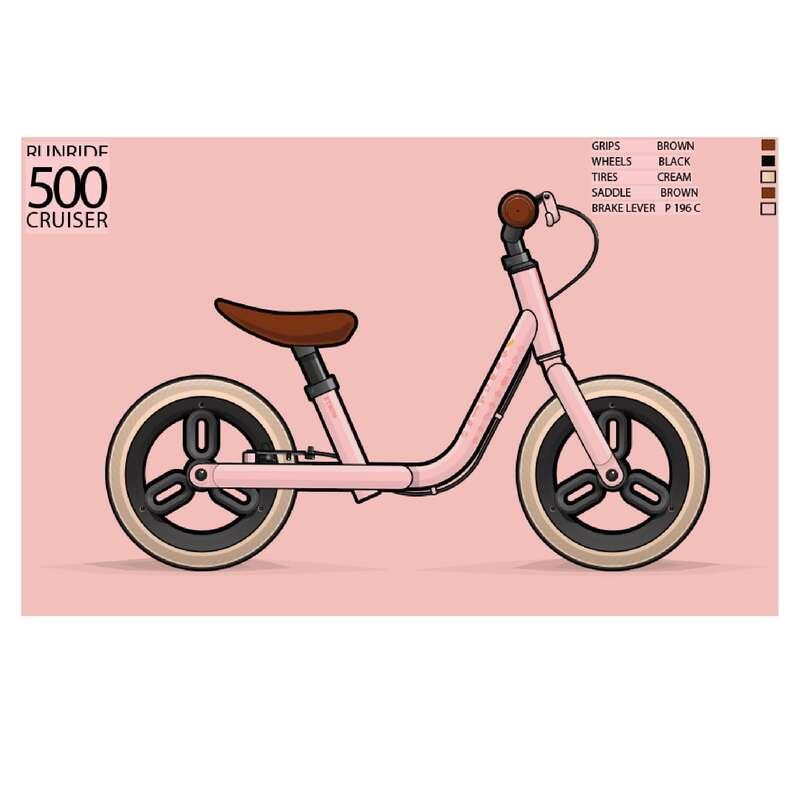 Futókerékpárok és triciklik (1-4 éveseknek) - Futókerékpár Run Ride 500 BTWIN