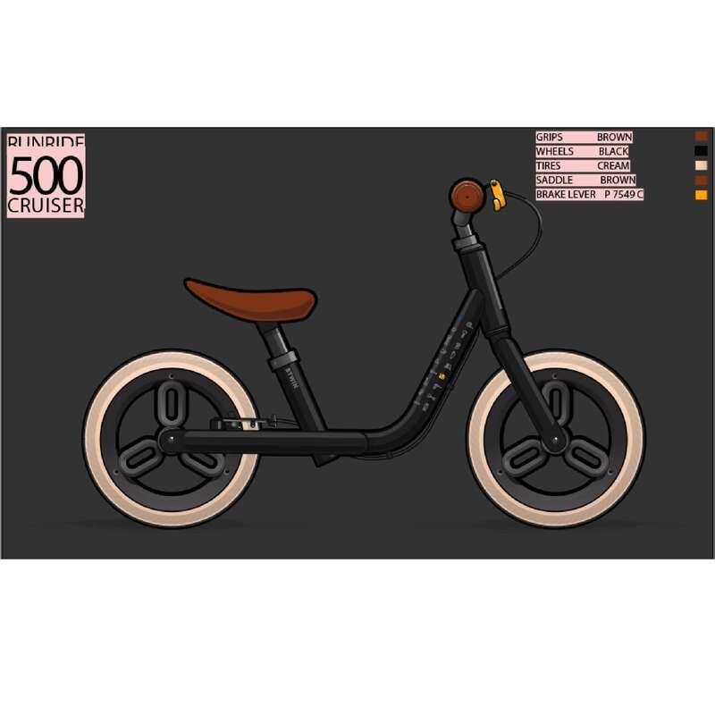 Futókerékpárok és triciklik (1-4 éveseknek) - Futókerékpár RunRide 500 BTWIN