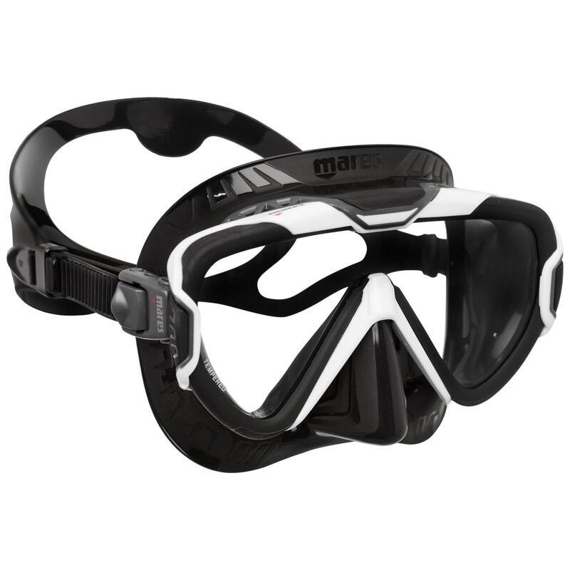 Gafa de Buceo Mares Pure Wire Negro Blanco Facial Opaca