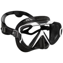 Tauchmaske Mares Pure Wire lichtundurchlässiger Dichtrand schwarz/weiss