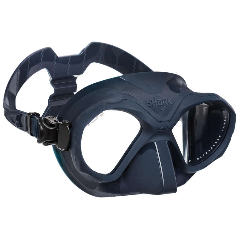 FREE DIVING FINS, MASKS, SNORKELS & ACC Dykning och Snorkling - Dykmask SHARK mörkblå BEUCHAT - Snorkling