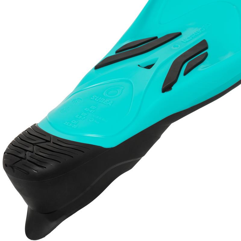 ตีนกบสำหรับดำน้ำลึกรุ่น SCD 500 (สีฟ้า Fluo. Turquoise)