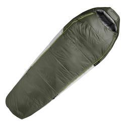 Mummieslaapzak voor trekking Trek 500 -5°C wattering koppelbaar groen