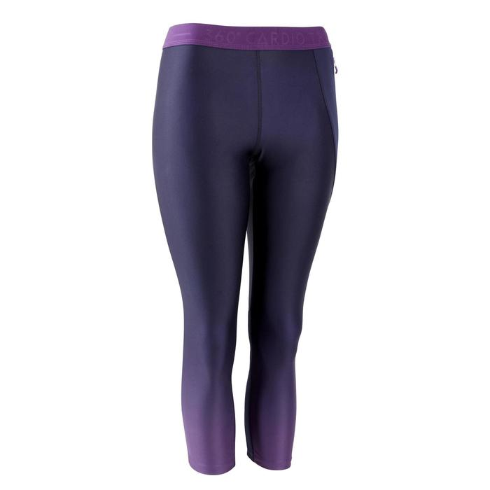 Legging 7/8 fitness cardio training femme bordeaux 500