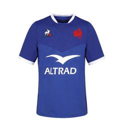 Rugbyshirt korte mouw volwassenen FFR XV replica wedstrijdshirt Frans team 20-21