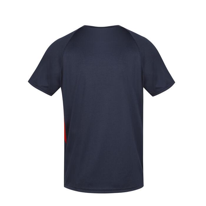 Trainingsshirt met korte mouwen voor rugby volwassenen Frans rugbyteam blauw