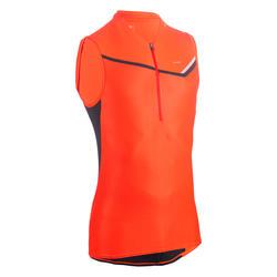 T-shirt sem Mangas com Fecho Trail Running Homem Vermelho