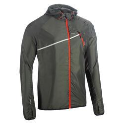 Casaco Corta-vento de trail running Homem Caqui-Escuro