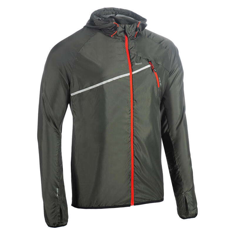 Men's Trail Running Wind Jacket - dark khaki