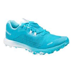 Chaussures de trail running pour femme Race Light bleu ciel et blanc