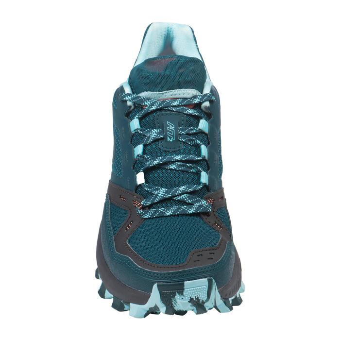 Chaussures de trail running femme MT2 bleu foncé et bleu ciel