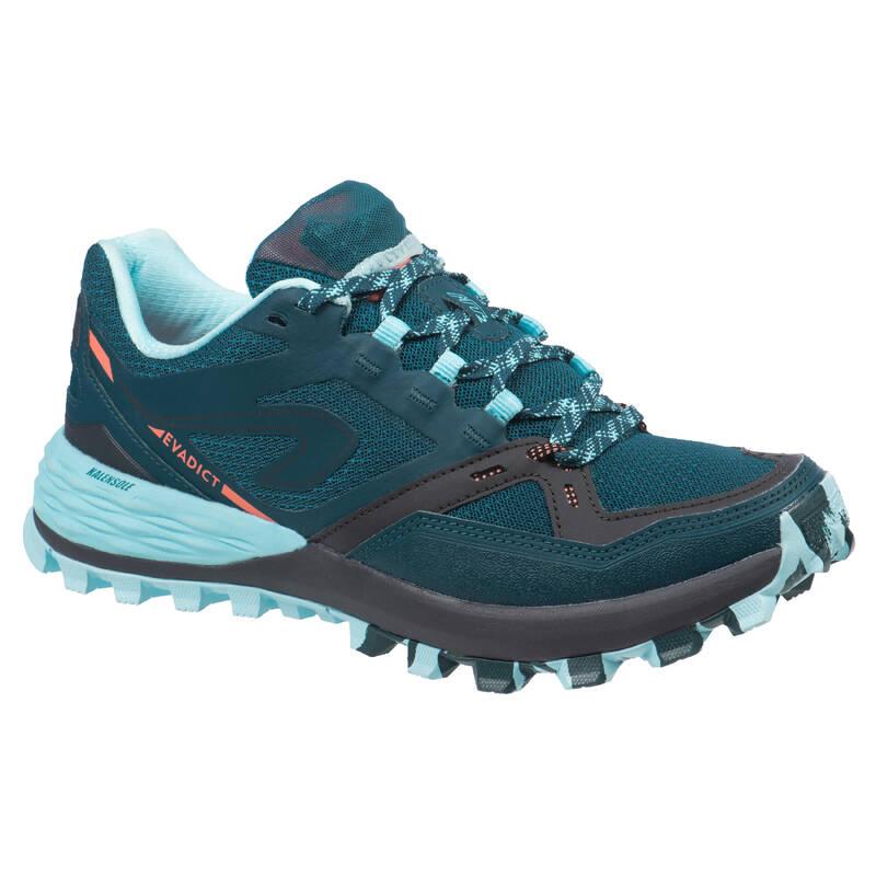 DÁMSKÉ BĚŽECKÉ TRAILOVÉ BOTY Běh - BOTY NA TRAILOVÝ BĚH MT2 MODRÉ EVADICT - Běžecká obuv