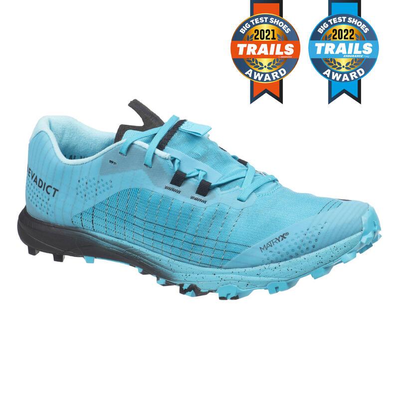 Zapatillas Trail Running Race Light Hombre Azul Celeste Negro