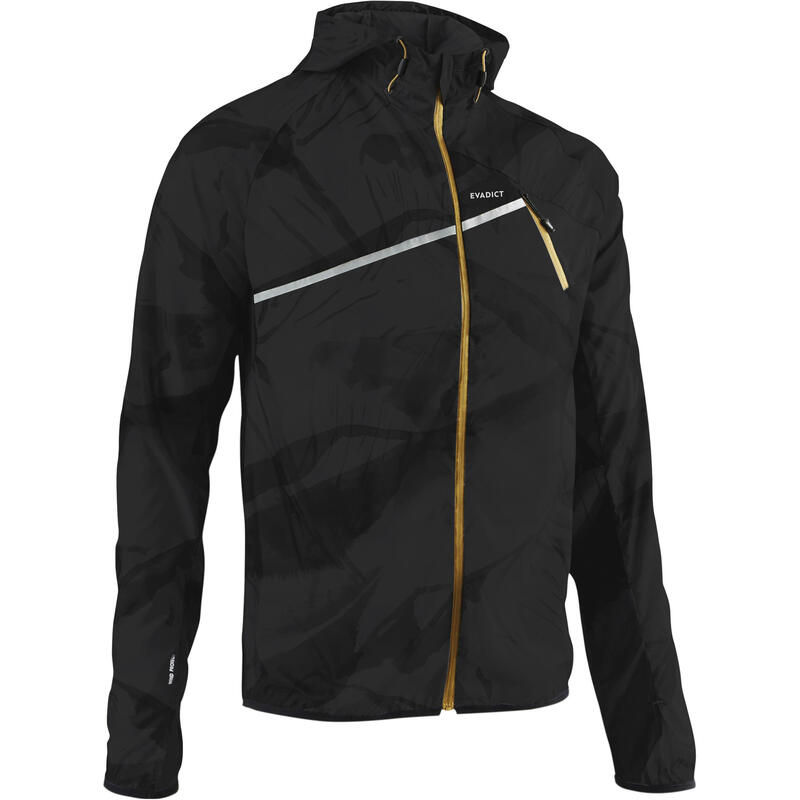 MEN'S TRAIL RUNNING WINDPROOF JACKET - GRAPH/CARBON