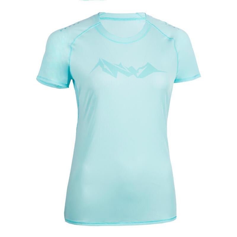 Kadın Mavi Tişört / Arazi Koşusu