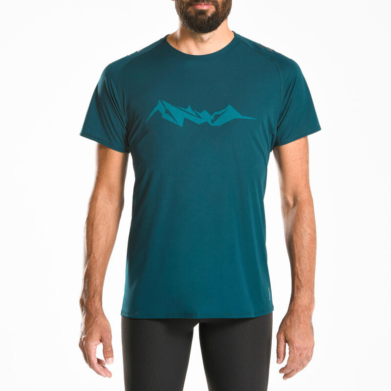 Men's Trail Running Short-Sleeved T-shirt - Turquoise