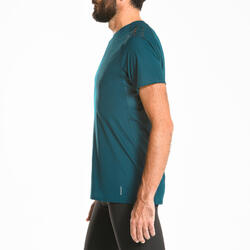 Men's Trail Running Short-Sleeved T-shirt - aqua