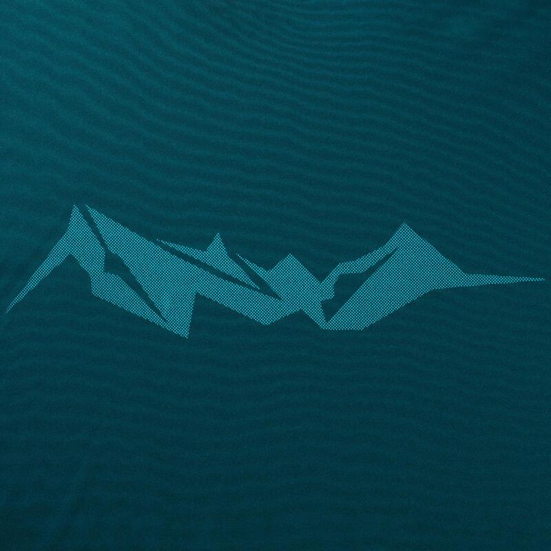 เสื้อยืดวิ่งเทรลแขนสั้นสำหรับผู้ชาย (สีน้ำเงิน Aqua)