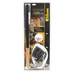 Baseballset voor kinderen met handschoen, bal en bat