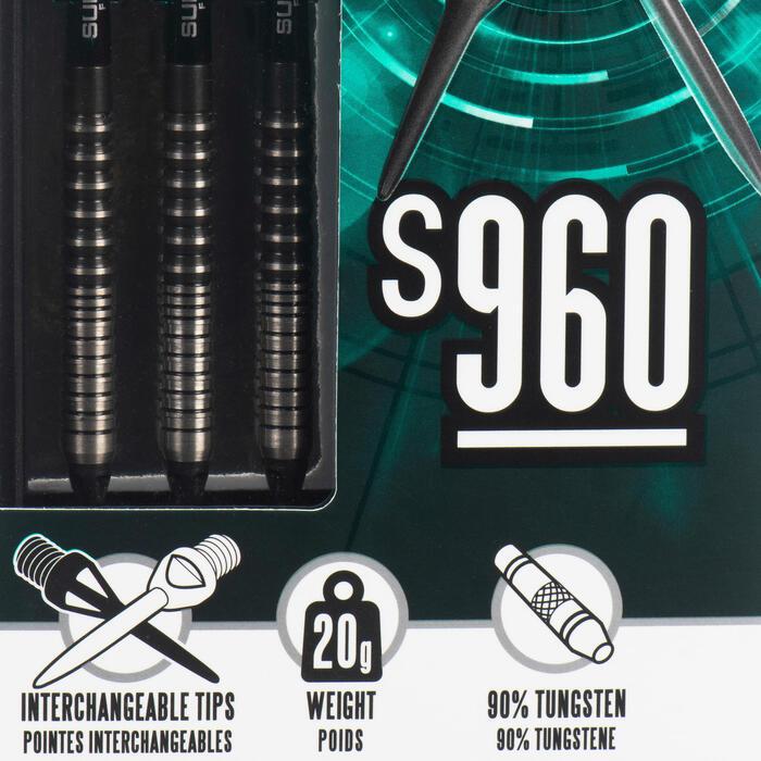 3 Dartpfeile S960 mit austauschbarer Spitze Soft Tip