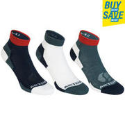 RS 160 Mid Sport Socks Tri-Pack - Grey/White/Red
