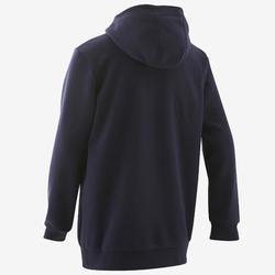 Sweat à capuche garçon bleu marine logo sur la poitrine adidas