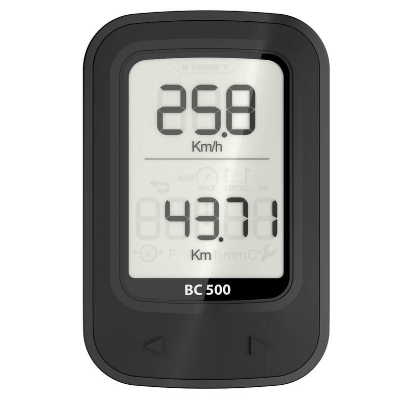 CYKLO TACHOMĚRY Cyklistika - BEZDRÁTOVÝ TACHOMETR 500 VAN RYSEL - Příslušenství na kolo