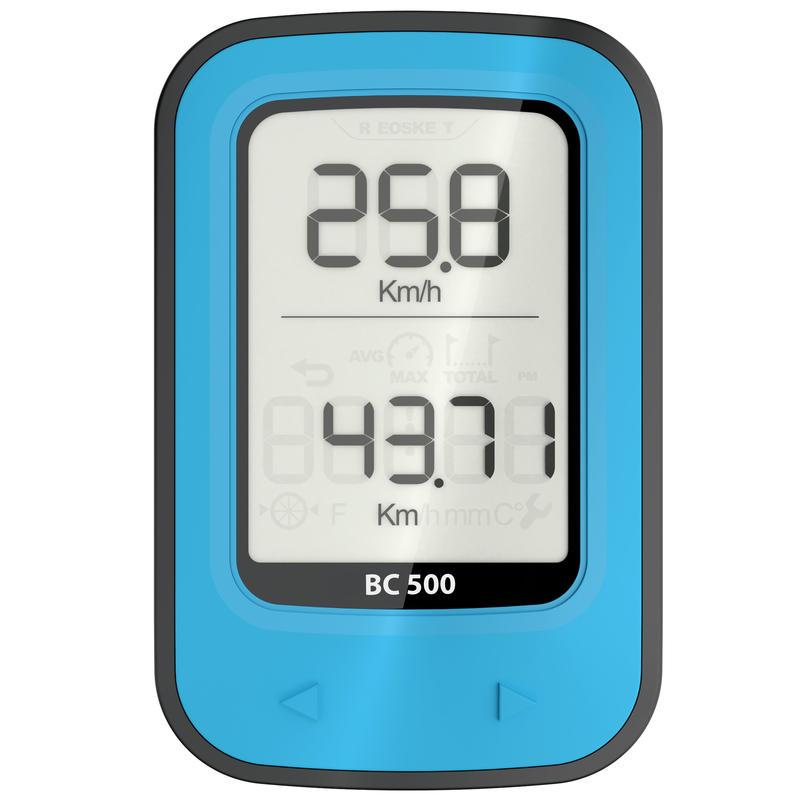 500 Wireless Bike Computer - Blue