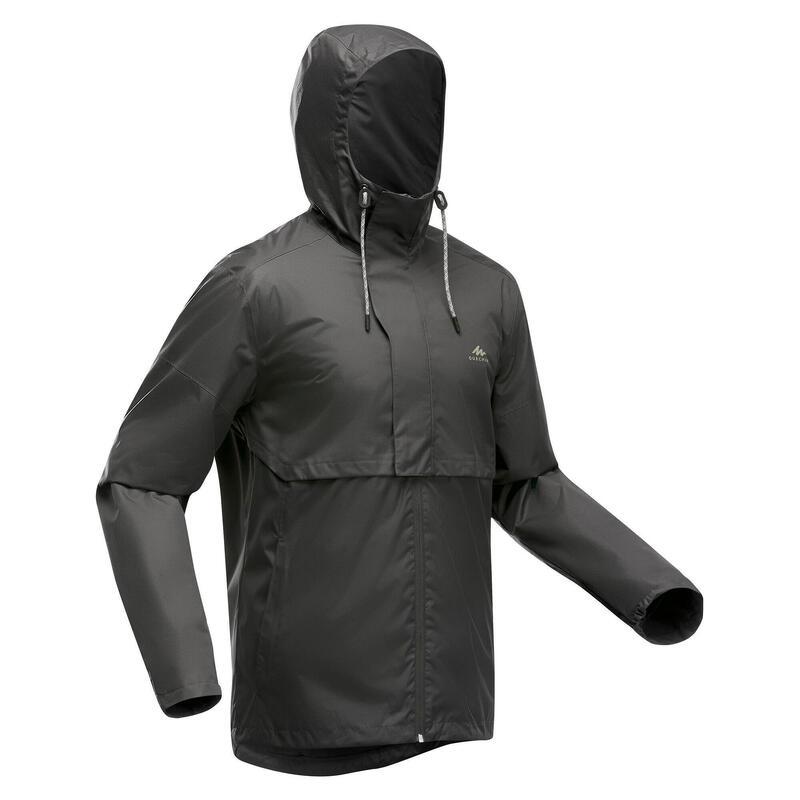 Casaco Impermeável de Caminhada na natureza NH500 Homem Cinzento escuro