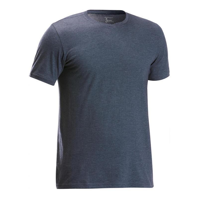 Tricou Dumeție în natură NH500 fresh Gri Bărbați