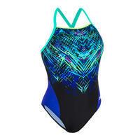 Women's Swimming One-Piece Swimsuit Lexa Mixen - Green and Blue