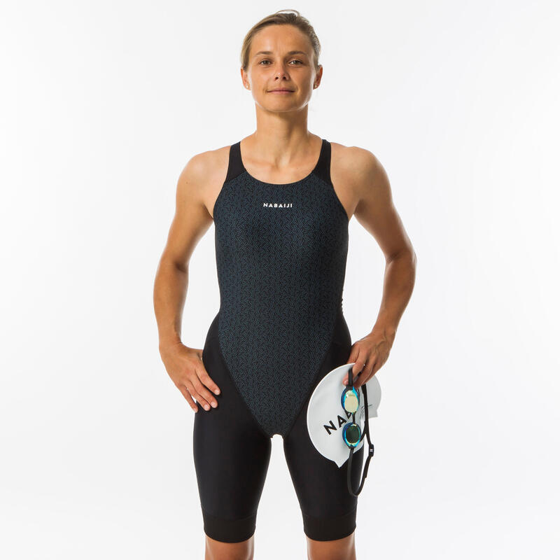 Women's One-Piece Swimsuit Shorty Kamyleon - All Geo Black