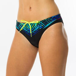 Cueca de bikini de natação mulher Jana verde e azul