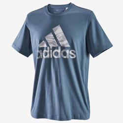 Heren T-shirt regular fit blauw