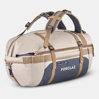 Trekking carry bag 500 - Duffel Extend - 40 to 60 litres - Beige