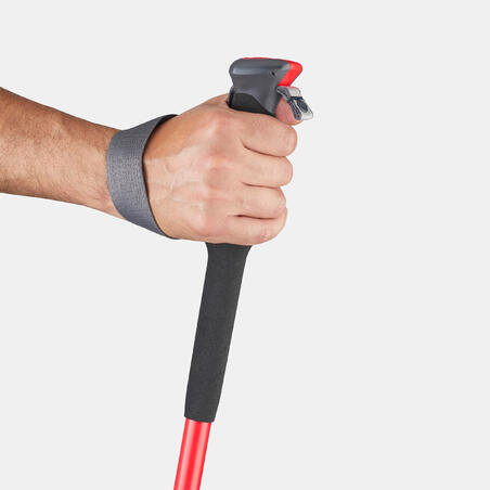 1 Mountain Walking Pole with Quick, Precise Adjustment MH500 - Red