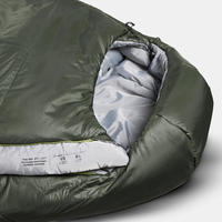 TREKKING MUMMY PAIRABLE SLEEPING BAG - TREK 500 -5°C - WADDING - GREEN