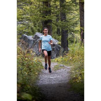 女款越野跑短袖T恤 - 橘色
