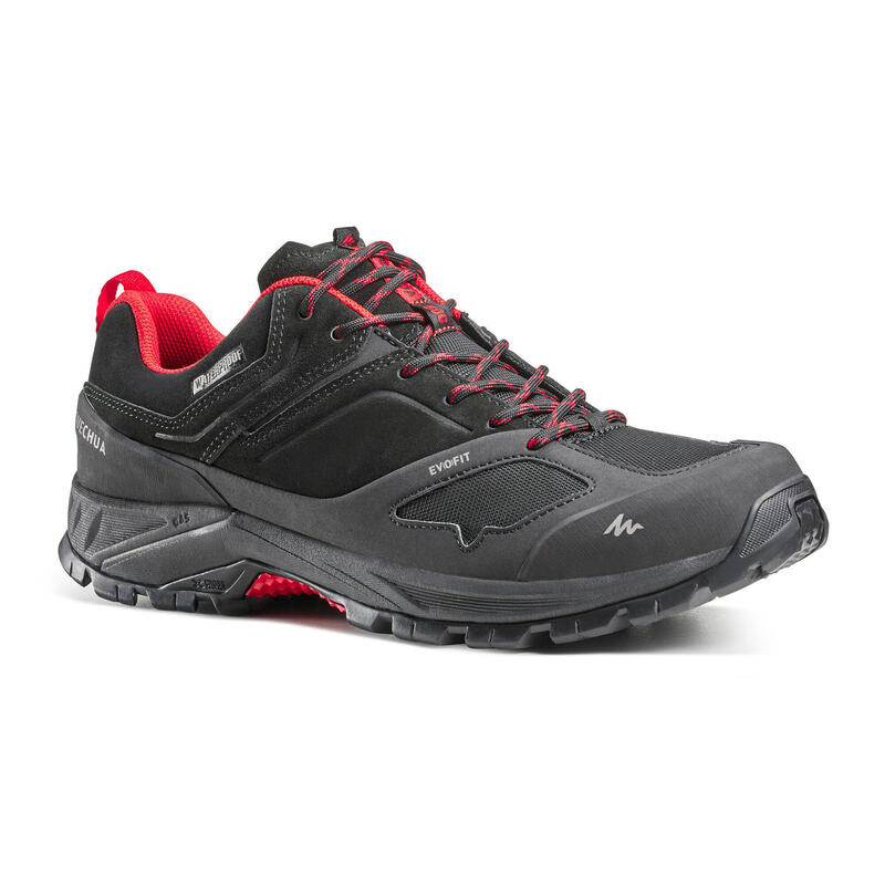 Chaussures imperméables de randonnée montagne - MH500 Noir/rouge - Homme